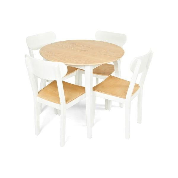 Jídelní sada stolu a 4 židlí Linda