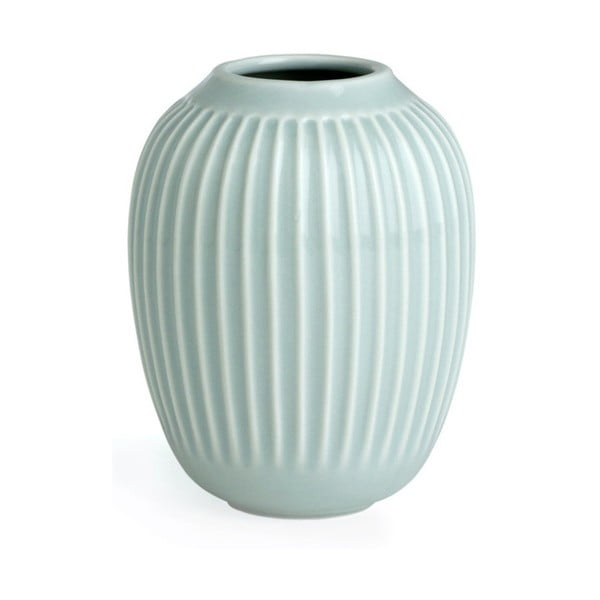 Mentolovomodrá kameninová váza Kähler Design Hammershoi, výška 10 cm