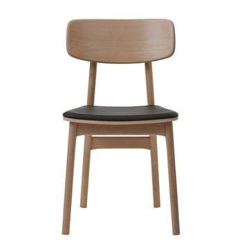 Scaun din lemn de stejar alb Unique Furniture Livo