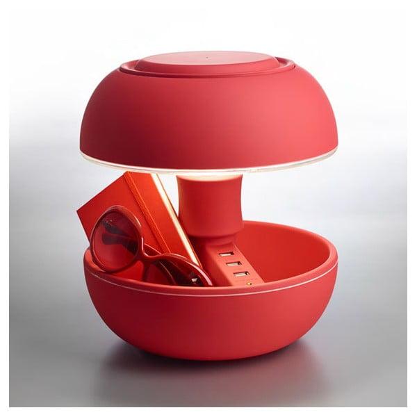 Stolní lampa a nabíječka v jednom Joyo Soft, červená