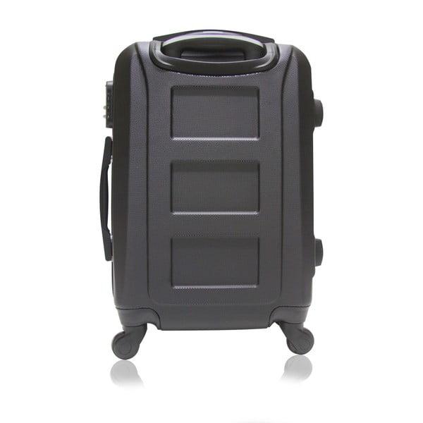 Černý cestovní kufr na kolečkách Hero Way, 39 l
