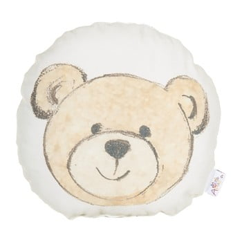 Pernă din amestec de bumbac pentru copii Apolena Pillow Toy Bearie, 23 x 23 cm de la Apolena