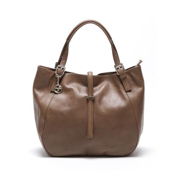 Šedo-hnědá kožená kabelka Isabella Rhea Eva