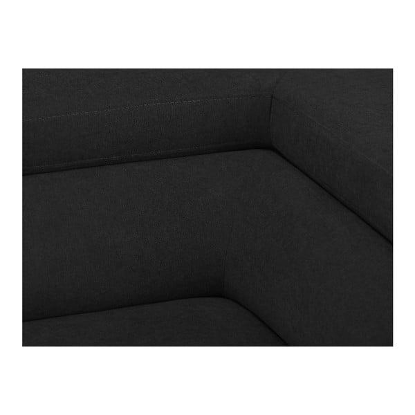 Tmavě šedá rozkládací rohová pohovka Windsor & Co Sofas Gamma, pravý roh