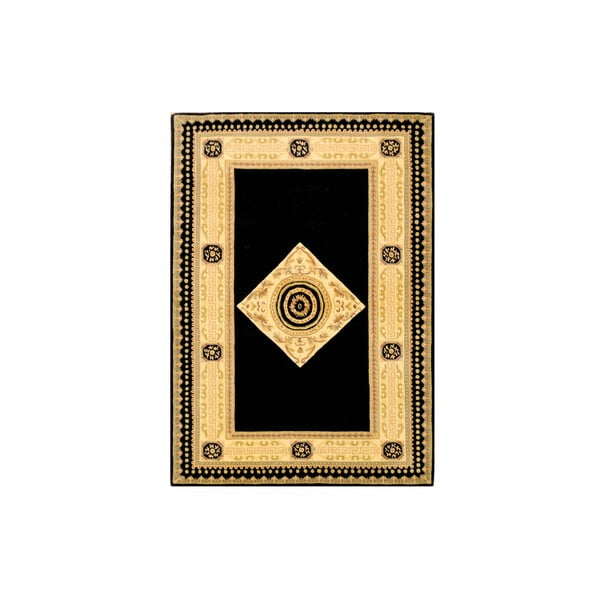 Vlněný koberec Bakero Vanilla/Black, 170x240 cm