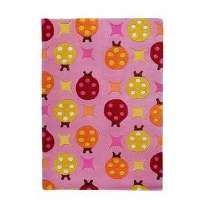Ručně vyráběný koberec The Rug Republic Beetle Pink, 120 x 180 cm