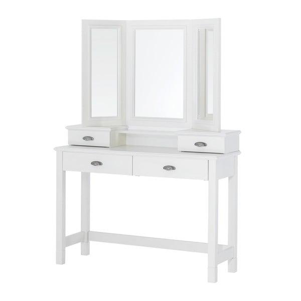 Prídavné zrkadlo k bielemu toaletnému stolíku Szynaka Meble Madison