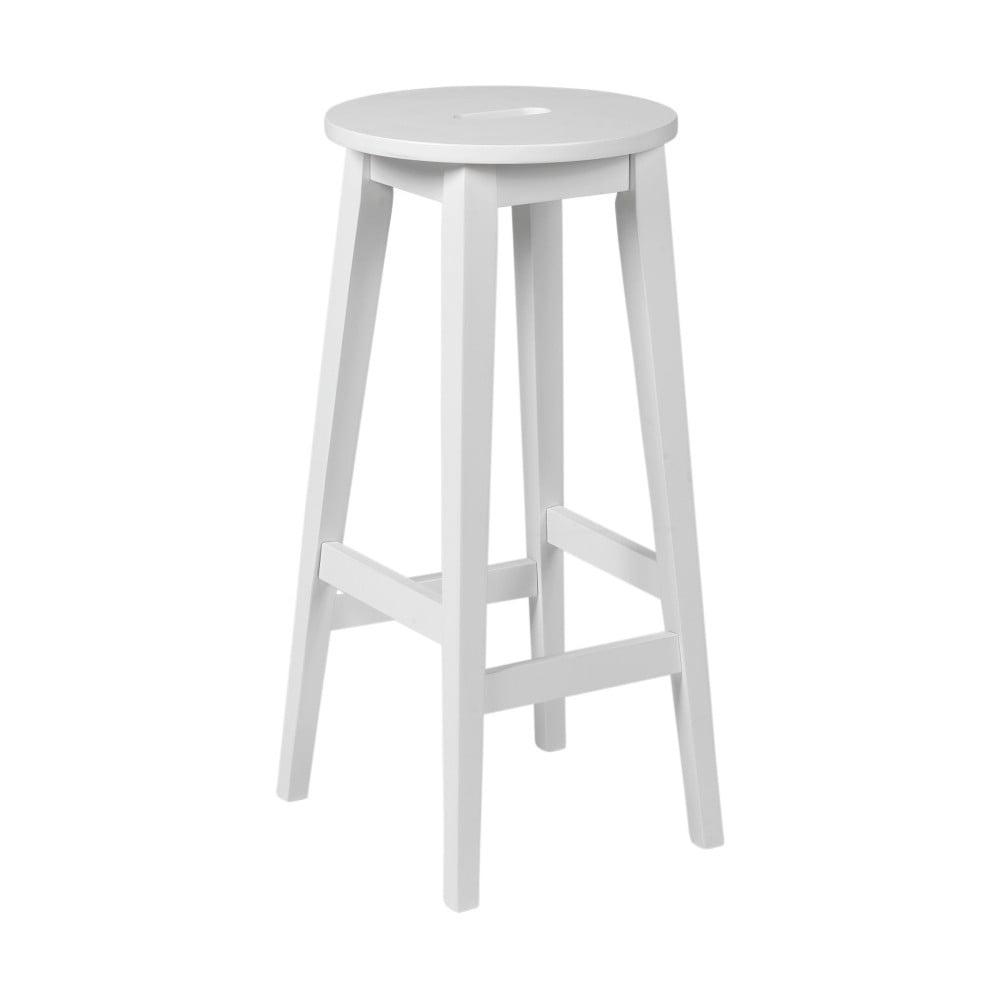 Bílá vysoká dubová stolička Folke Frigg