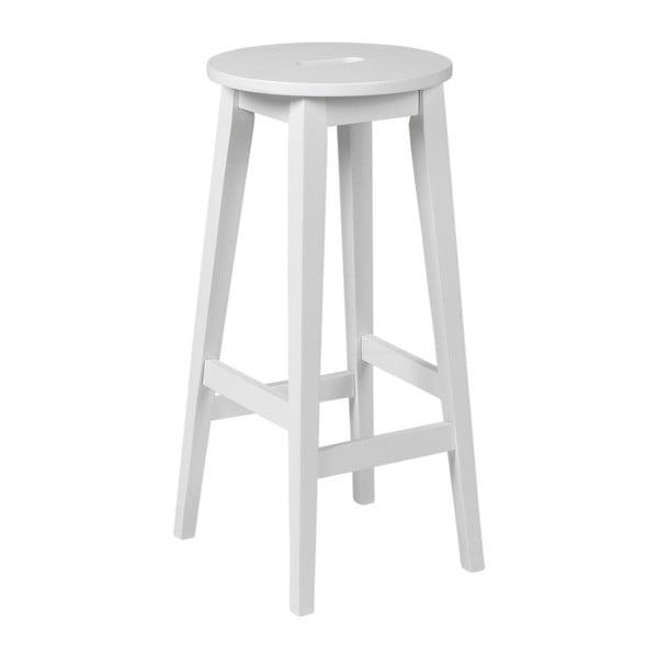 Biela barová stolička z dubového dreva Rowico Frigg