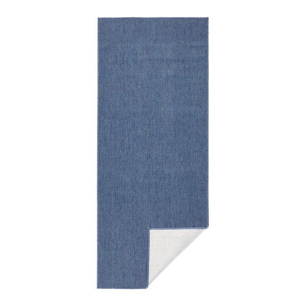 Modrý vonkajší koberec Bougari Miami, 80 x 350 cm
