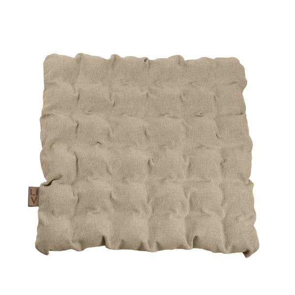 Beżowa poduszka do siedzenia z piłkami do masażu Linda Vrňáková Bubbles, 55x55 cm