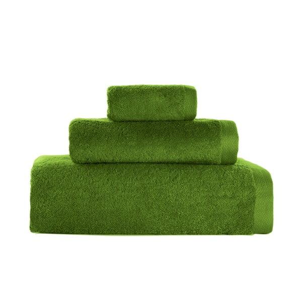 Set 3 prosoape Artex Alfa, verde smarald