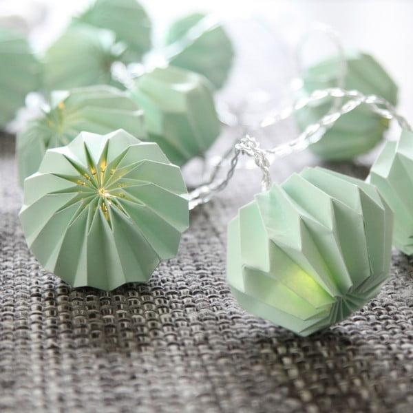 Mentolový světelný LED řetěz Best Season Crystal, 10 světýlek