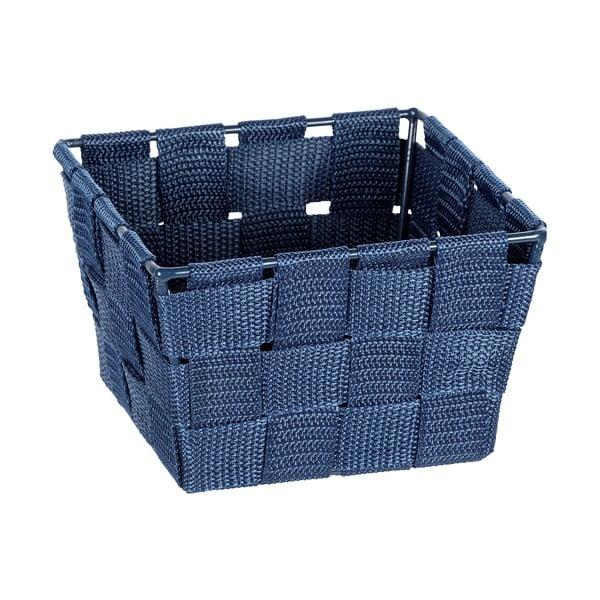 Modrý úložný košík Wenko Adria, 14 x 9 cm