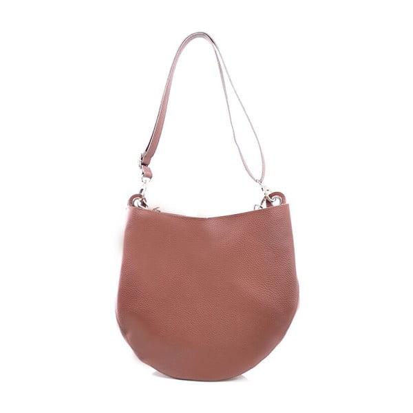Kožená kabelka Melia, hnědá