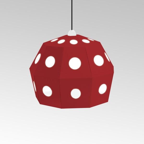 Kartonové svítidlo Uno Fantasia B Red, s černým kabelem