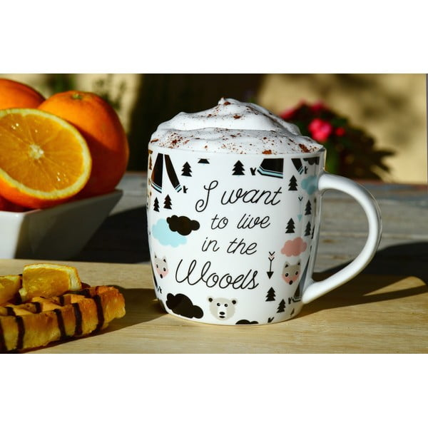 Porcelánový hrnek We Love Home In The Woods, 300 ml