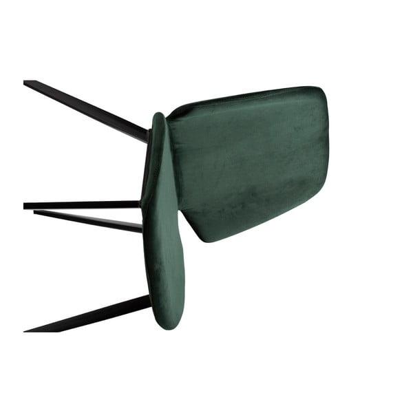 Tmavě zelená jídelní židle DAN–FORM Denmark Swing Velvet