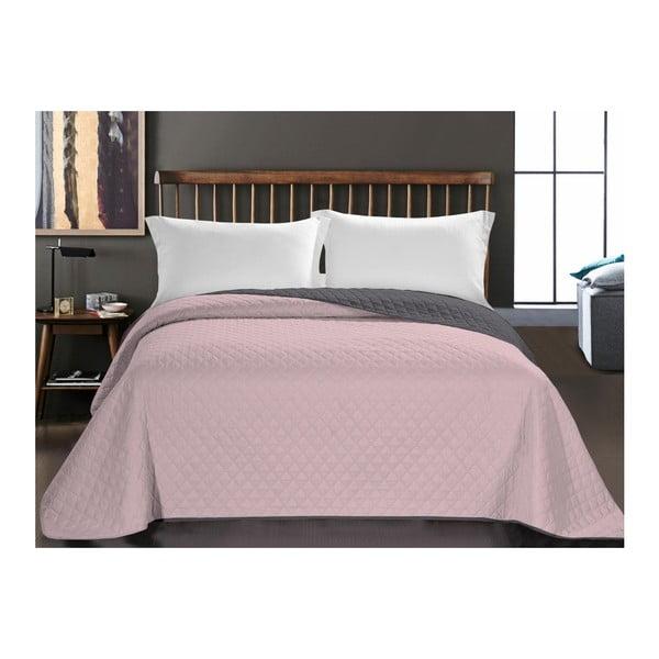 Axel kétoldalas mikroszálas rózsaszín ágytakaró, 240 x 260 cm - DecoKing