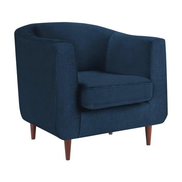Tmavě modré křeslo Kooko Home Glam