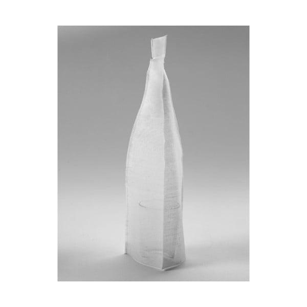 Váza se světlým plátěným obalem, 37 cm