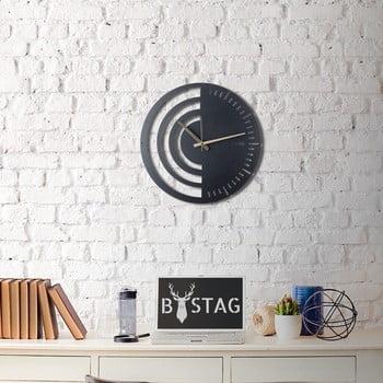 Ceas din metal pentru perete Black, 50 x 50 cm de la Unknown