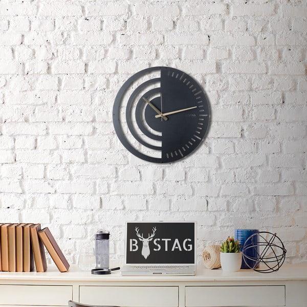 Ceas din metal pentru perete Black, 50 x 50 cm