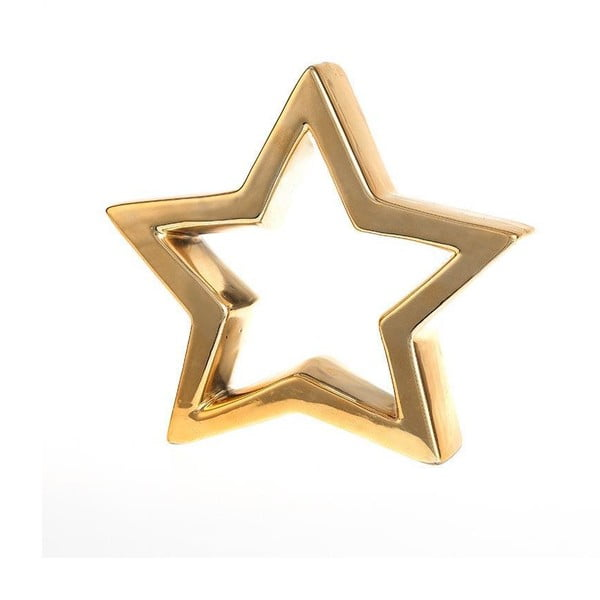 Dekorativní hvězda Deco Gold, 20x18 cm