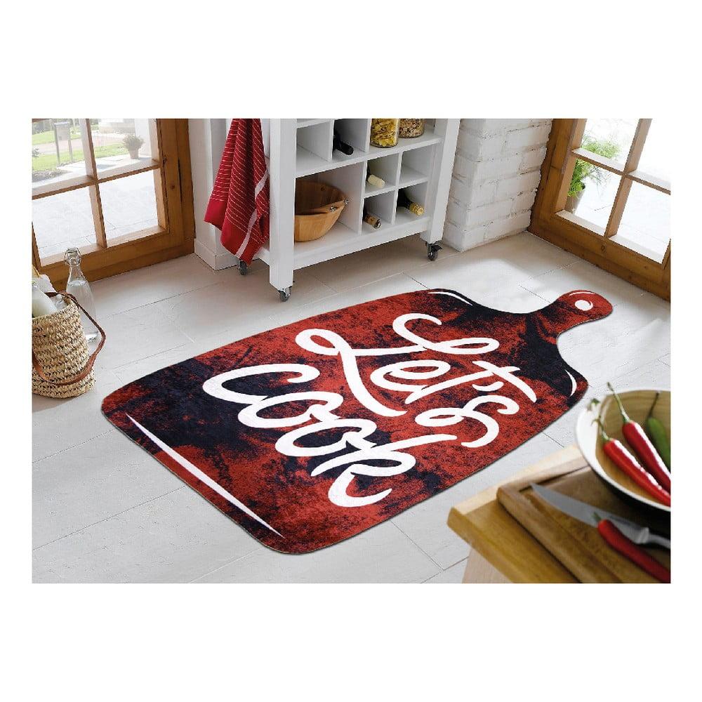 Koberec Vitaus Lets Cook Red, 80 x 120 cm