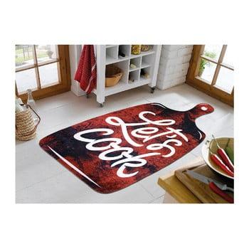 Covor Vitaus Lets Cook Red, 100 x 160 cm de la Vitaus