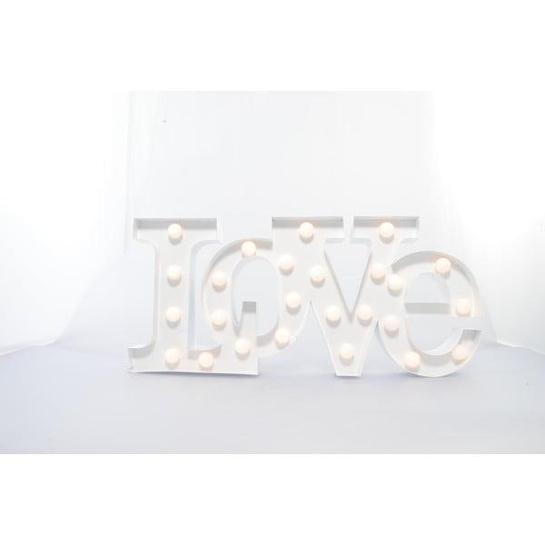 Dekorativní světlo Carnival Love, bílé