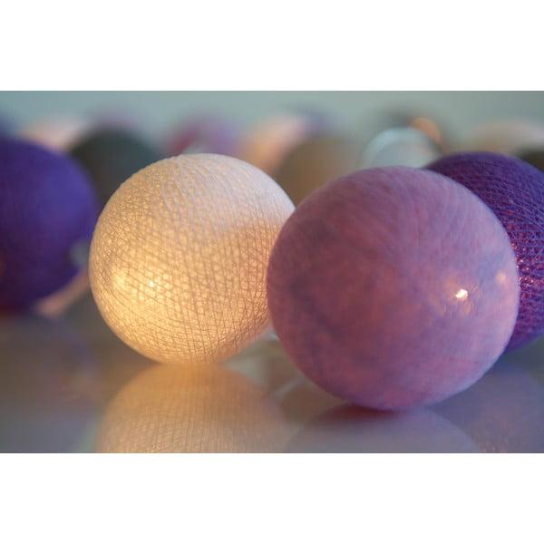 Svítící řetěz Irislights Lavender, 20 světýlek
