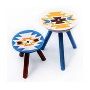 Sada 2 ručně malovaných stoliček Viscri