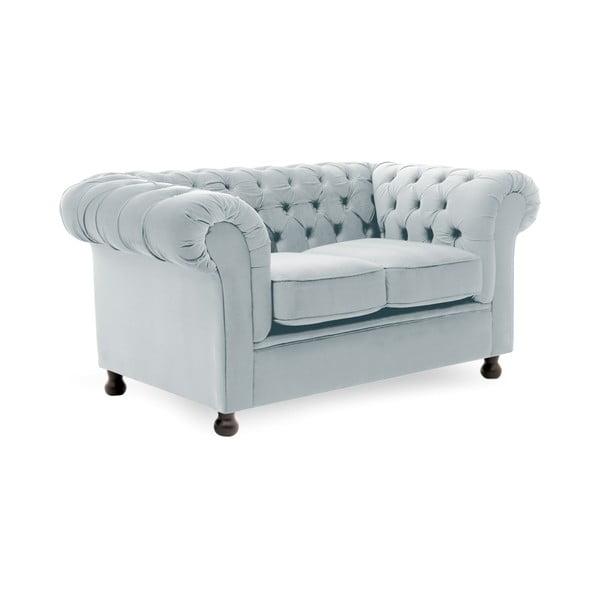 Canapea 2 locuri Vivonita Chesterfield, gri albăstrui