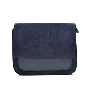 Tmavě modrá kožená kabelka Mangotti Zoe
