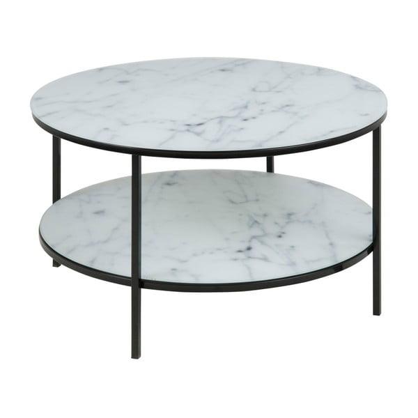 Konferenčný stolík s doskou v dekore bieleho mramoru Actona Alisma