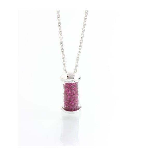 Růžový náhrdelník se Swarovski krystaly Yasmine Ampule