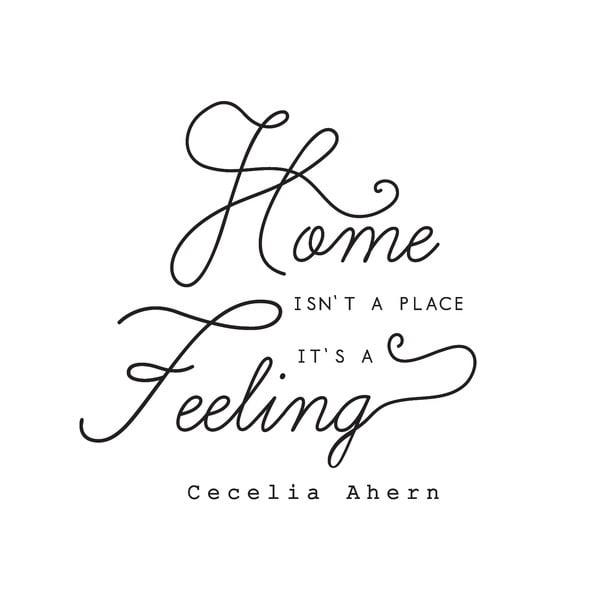 Dekorativní nástěnná samolepka Home Feeling