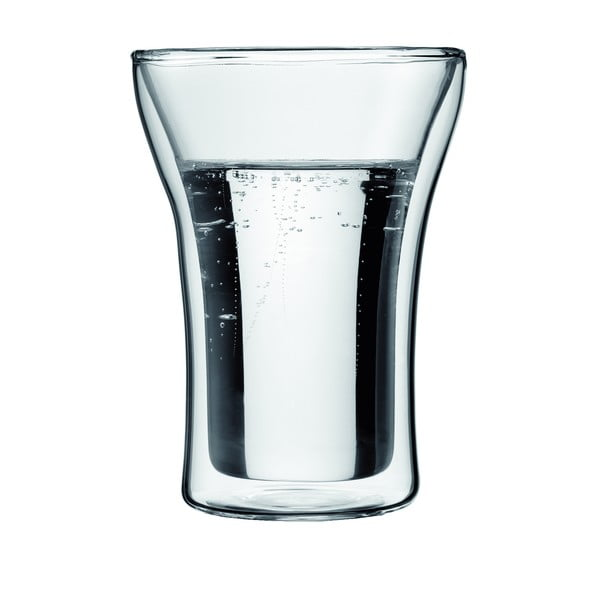 Sada 2 dvoustěnných sklenic Lupino