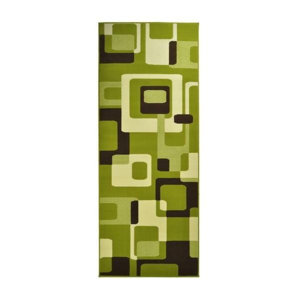 Zelený koberec Hanse Home Hamla Retro, 80x200cm