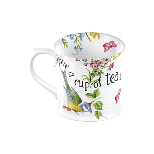 Biely porcelánový hrnček Creative Tops English Garden, 350 ml