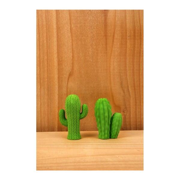 Sada 2 gúm v tvare kaktusa Kikkerland