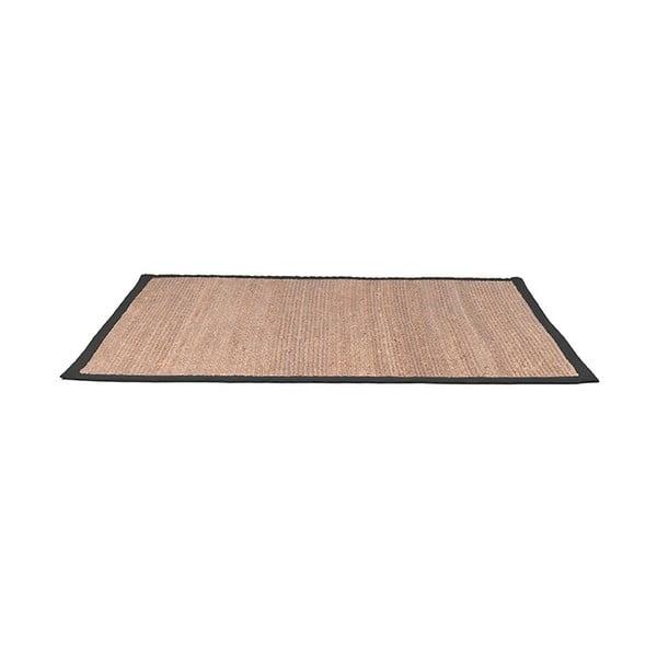 Jutový koberec sčerným bavlněným detailem LABEL51, 160x230cm
