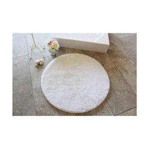 Světle béžová koupelnová předložka Confetti Bathmats Colors of Ecru, ⌀ 90 cm