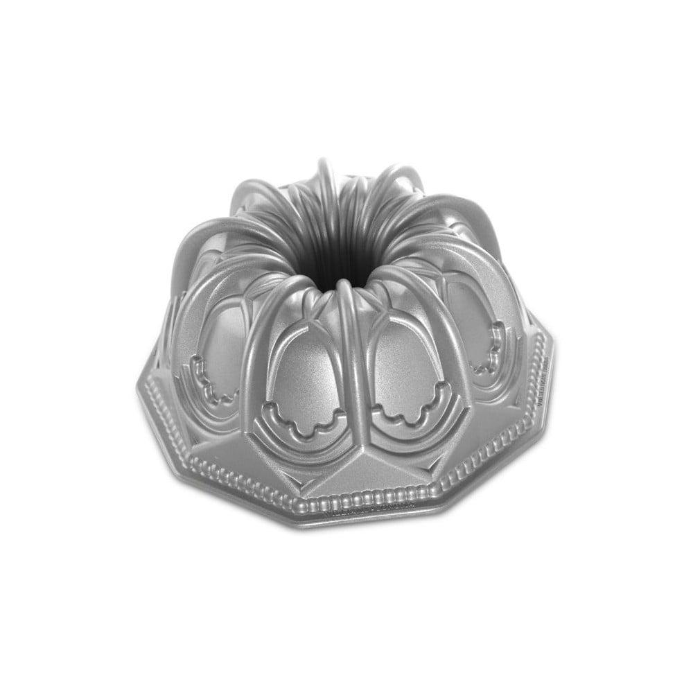 Forma na bábovku ve stříbrné barvě Nordic Ware Cathedral, 2,1 l
