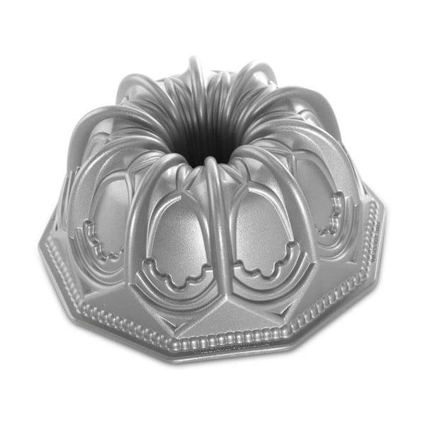 Forma na babkę w srebrnym kolorze Nordic Ware Cathedral, 2,1l