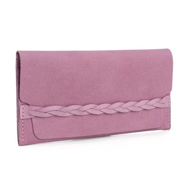 Różowy portfel skórzany Woox Efferta Rosea