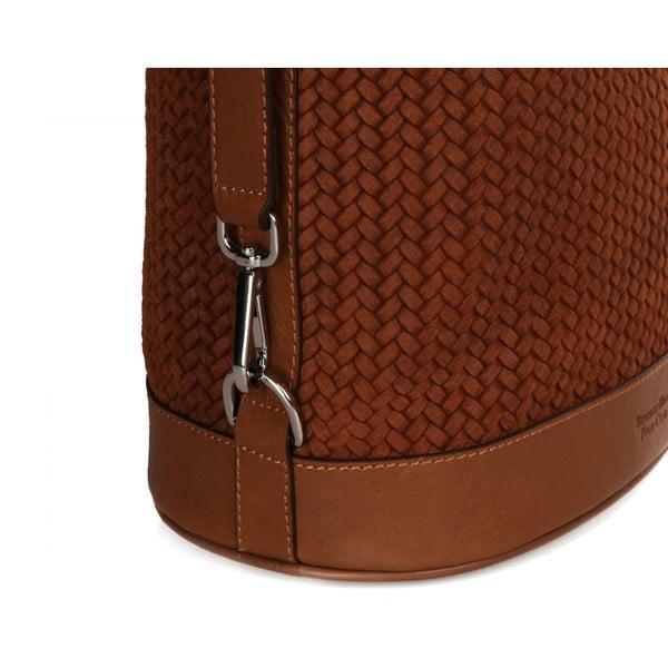 Hnědá kožená kabelka Beverly Hills Polo Club Adriane