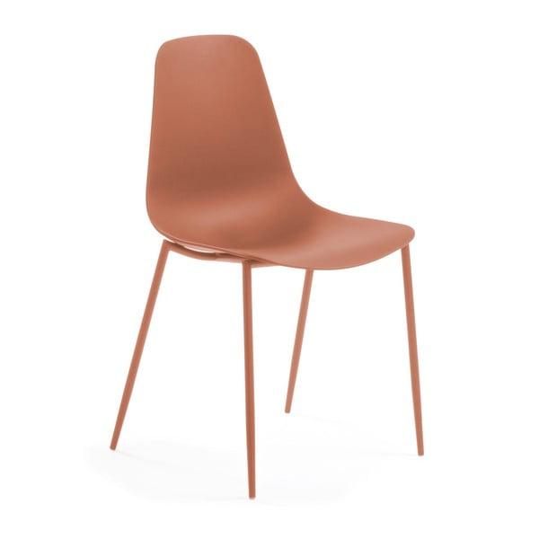 Tmavooranžová jedálenská stolička La Forma Wassu