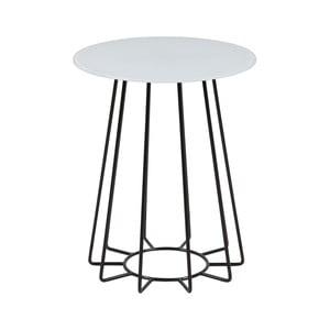 Příruční stolek s deskou z tvrzeného skla Actona Casia, ⌀40cm